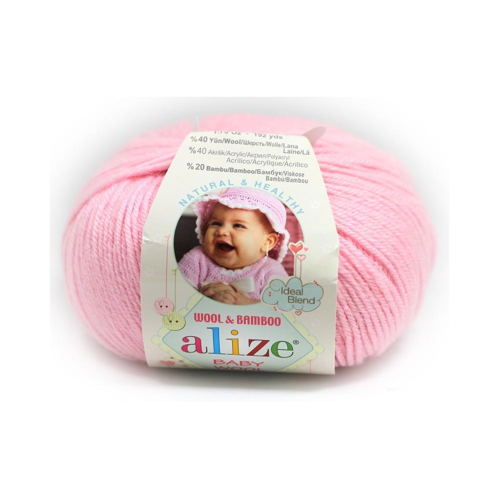 Alize Baby Wool (185) RÓŻOWY