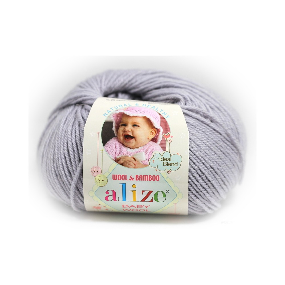 Alize Baby Wool (52) SZARY