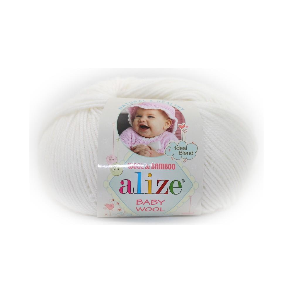 Alize Baby Wool (55) BIAŁY