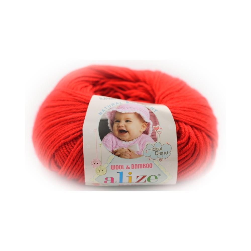 Alize Baby Wool (56) CZERWONY