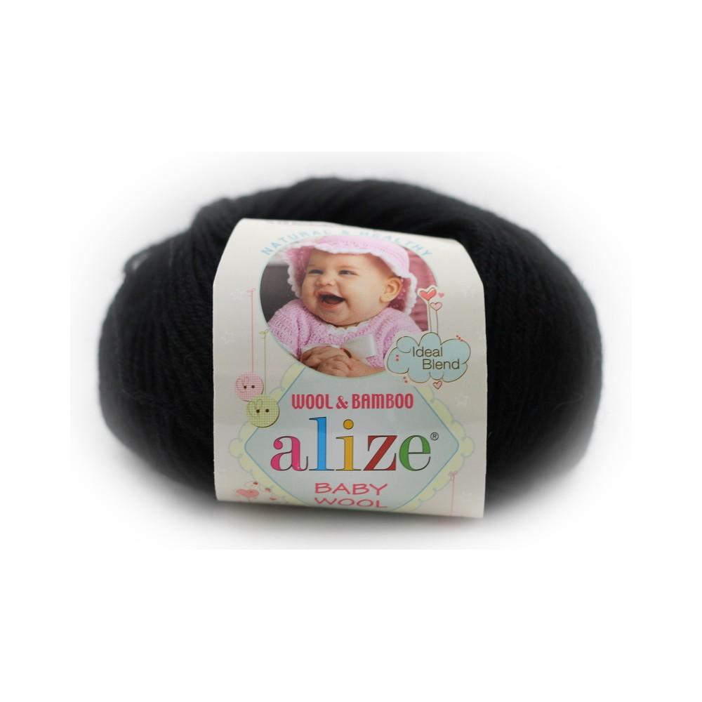 Alize baby wool (60) czarny