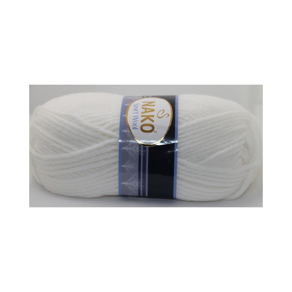 Nako Sport Wool (208) BIAŁY