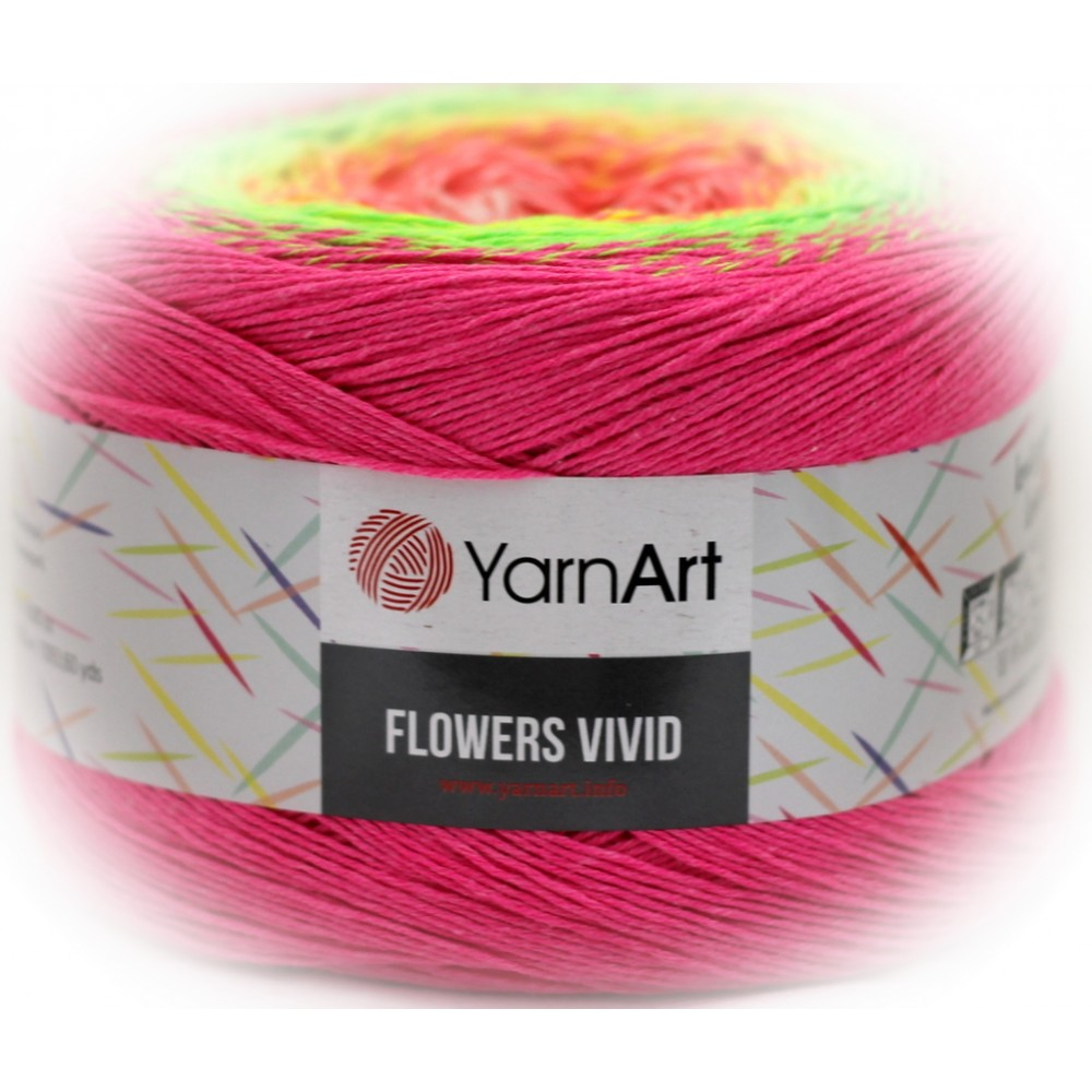 Yarn Art Flowers Vivid...