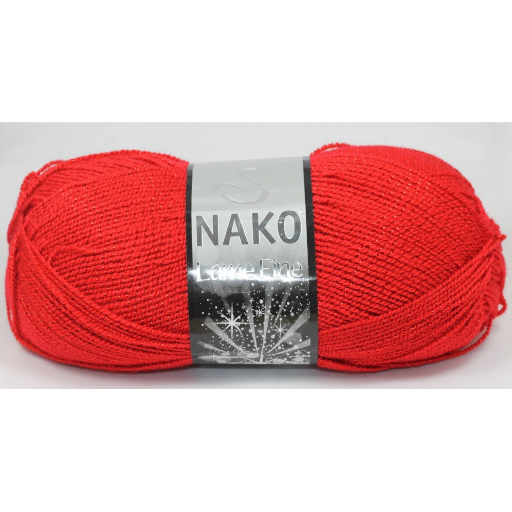 Nako Lame Fine (251K) CZERWONY