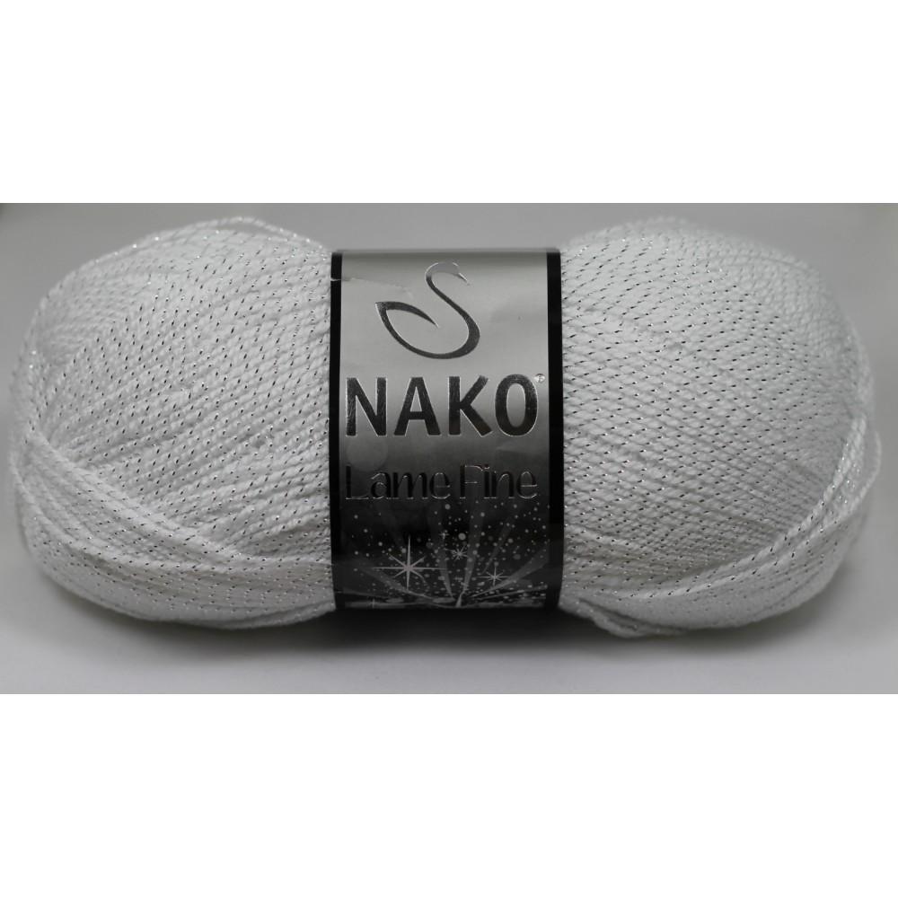 Nako Lame Fine (208G) BIAŁY